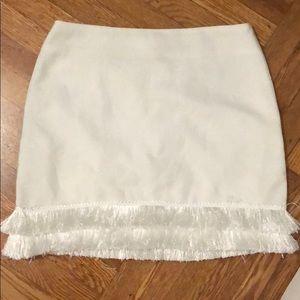 Dresses & Skirts - White Skirt, with fringe trim at the bottom